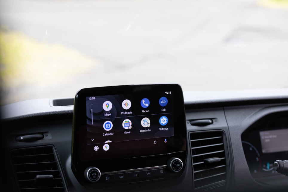 Standard features an 8.0-inch touch-screen.