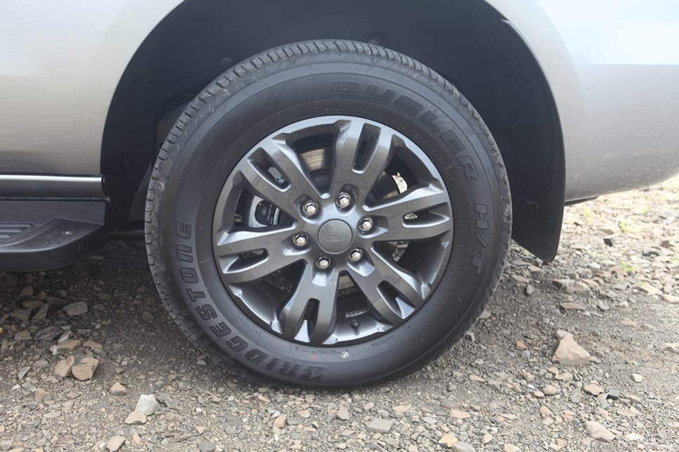 The Everest Basecamp has 18-inch alloy wheels.