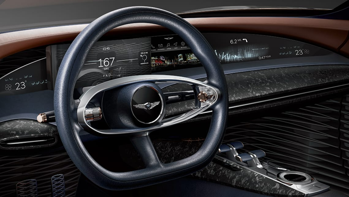 The cabin has been stripped back to the essentials, with a flat-bottomed wheel perched in front of an 8.0-inch driver display.