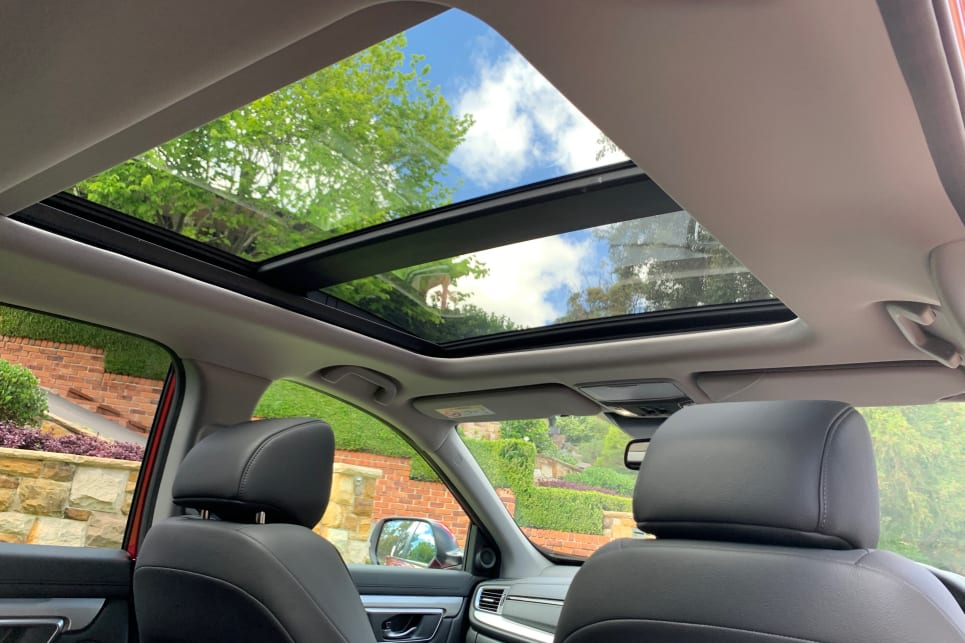 The VTI L7 features a large panoramic glass sunroof. VTi LX AWD pictured.