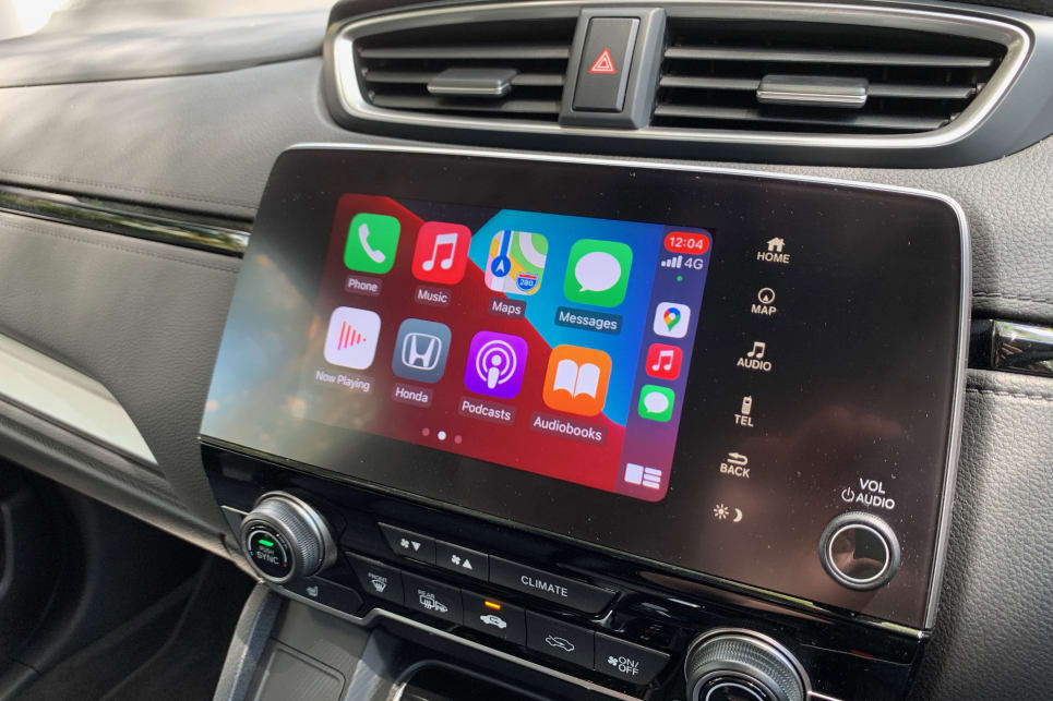 The CR-V has Apple Carplay and Android Auto.