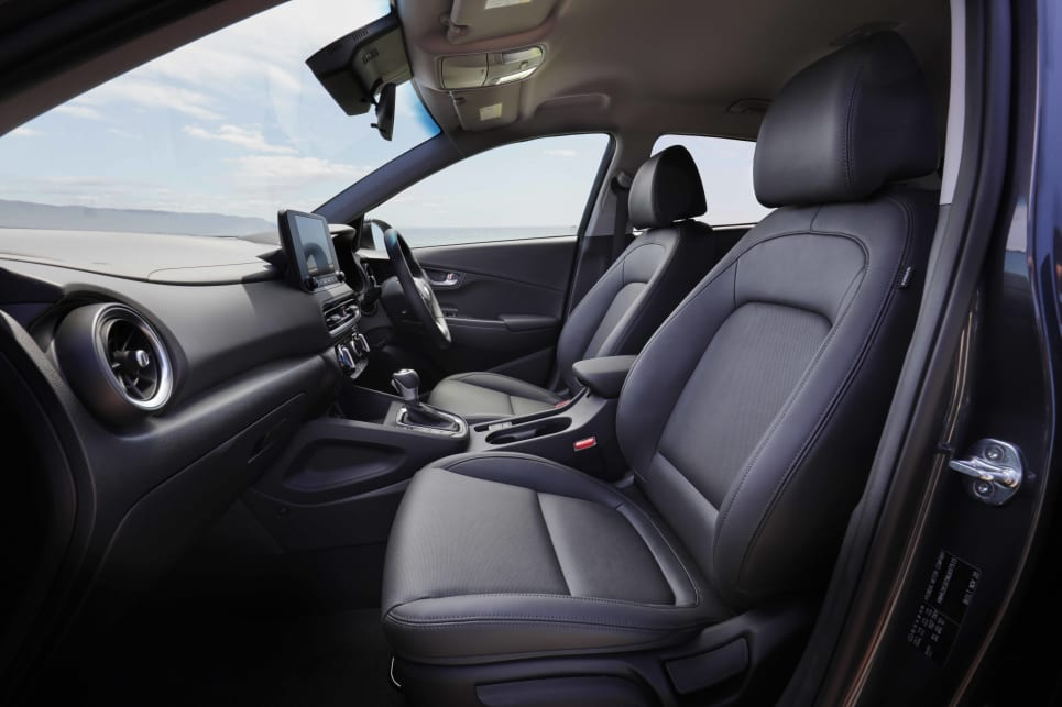 The Kona is neither the biggest nor smallest in terms of interior space (image: Active).