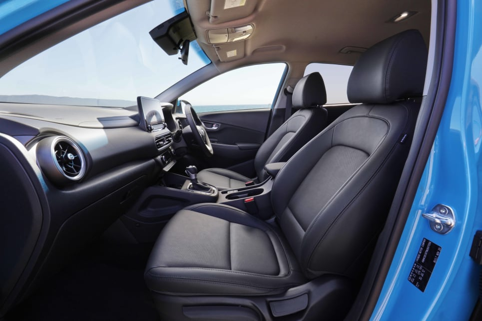 The Kona is neither the biggest nor smallest in terms of interior space (image: Elite).