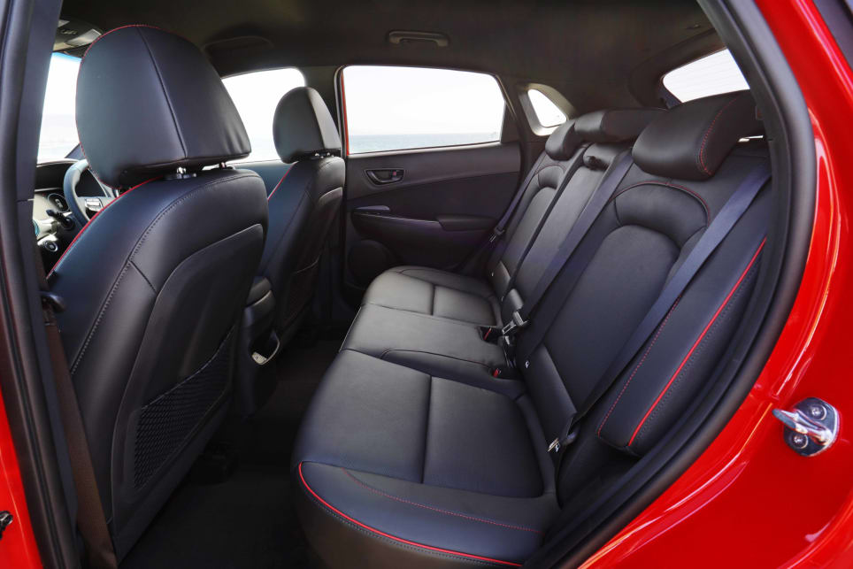 The Kona is neither the biggest nor smallest in terms of interior space (image: N Line Premium).