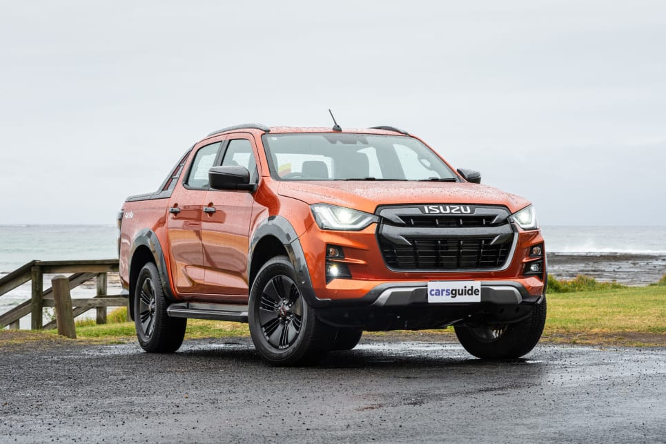 The Isuzu D-Max X-Terrain is the next most expensive of this trio, with an MSRP of $62,900 (image credit: Tom White).