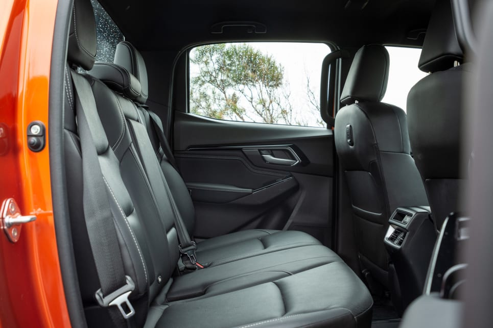 All three utes offer competitive levels of rear seat space (image credit: Tom White).