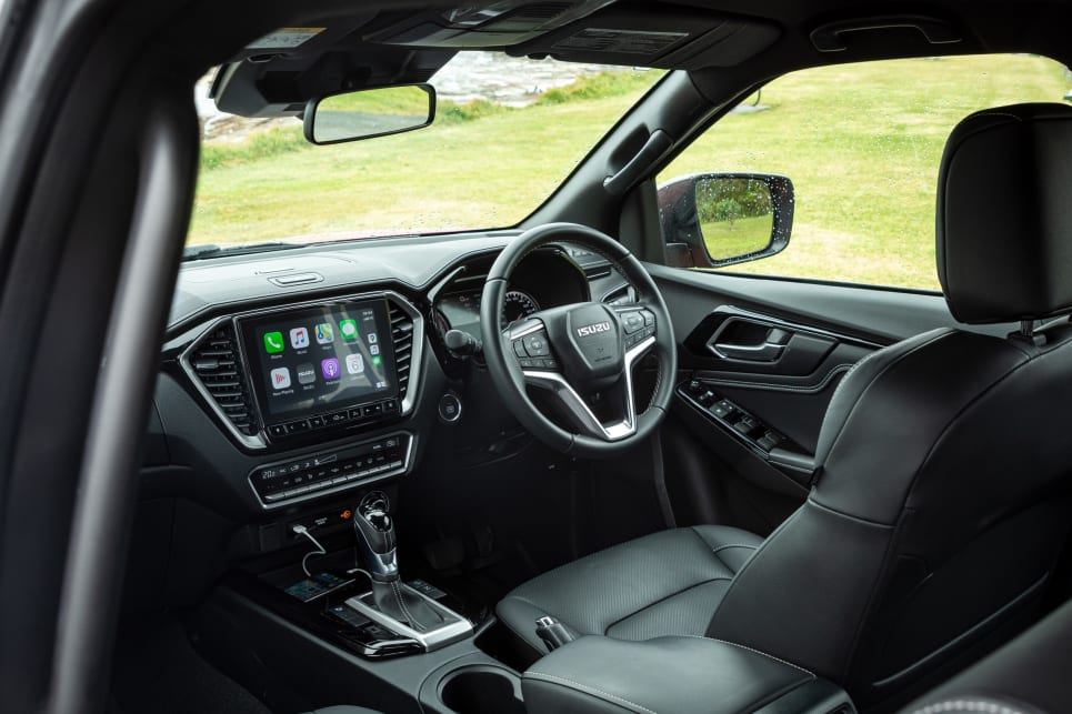 The D-Max has additional dash-top storage (image credit: Tom White).