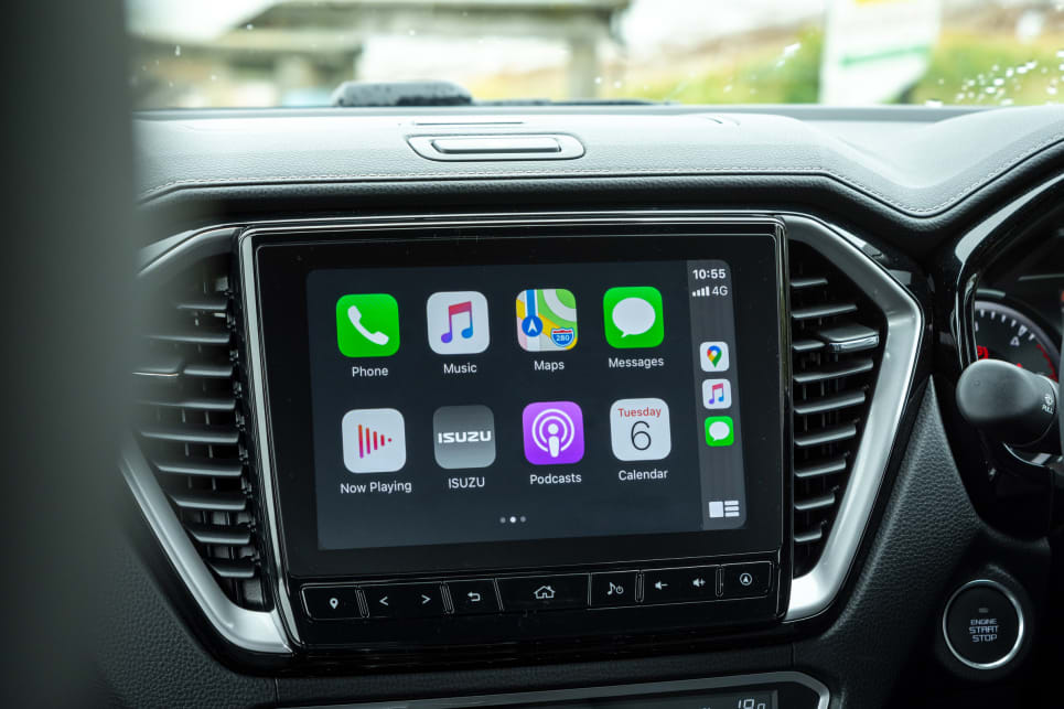 The D-Max has a 9.0-inch infotainment touchscreen (image credit: Tom White).