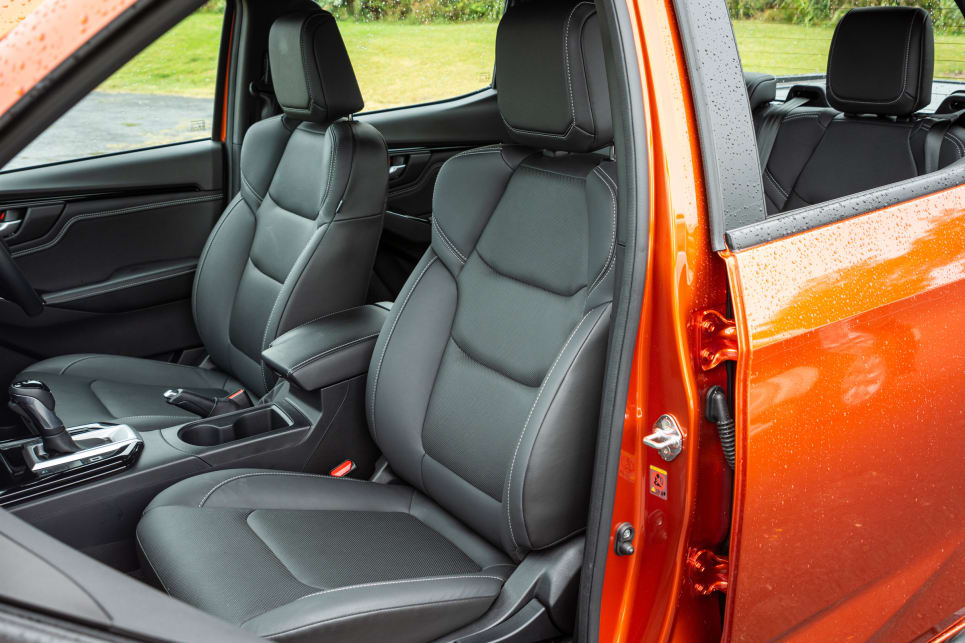 The front seats of the D-Max are not heated (image credit: Tom White).