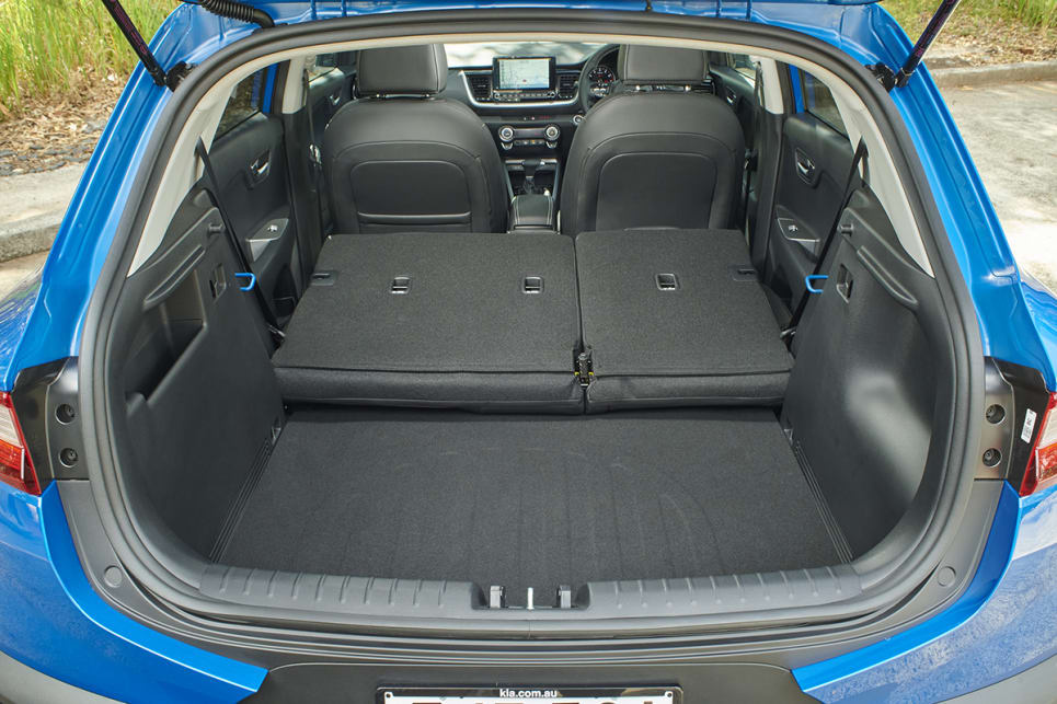 The rear seats can be folded flat to increase cargo capacity. (GT-Line variant pictured)