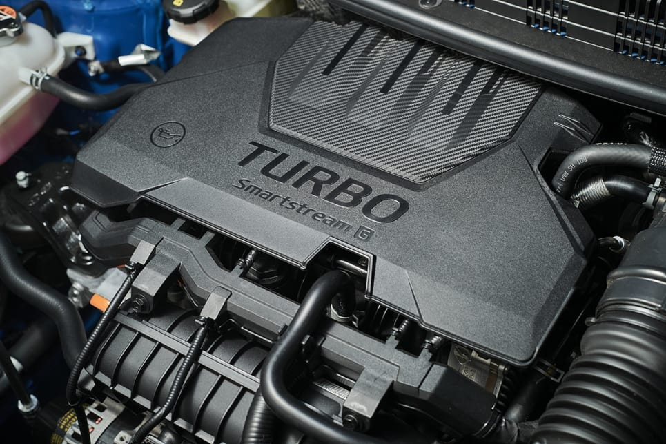 The 1.0-litre turbo three-cylinder makes 74kW/172Nm. (GT-Line variant pictured)
