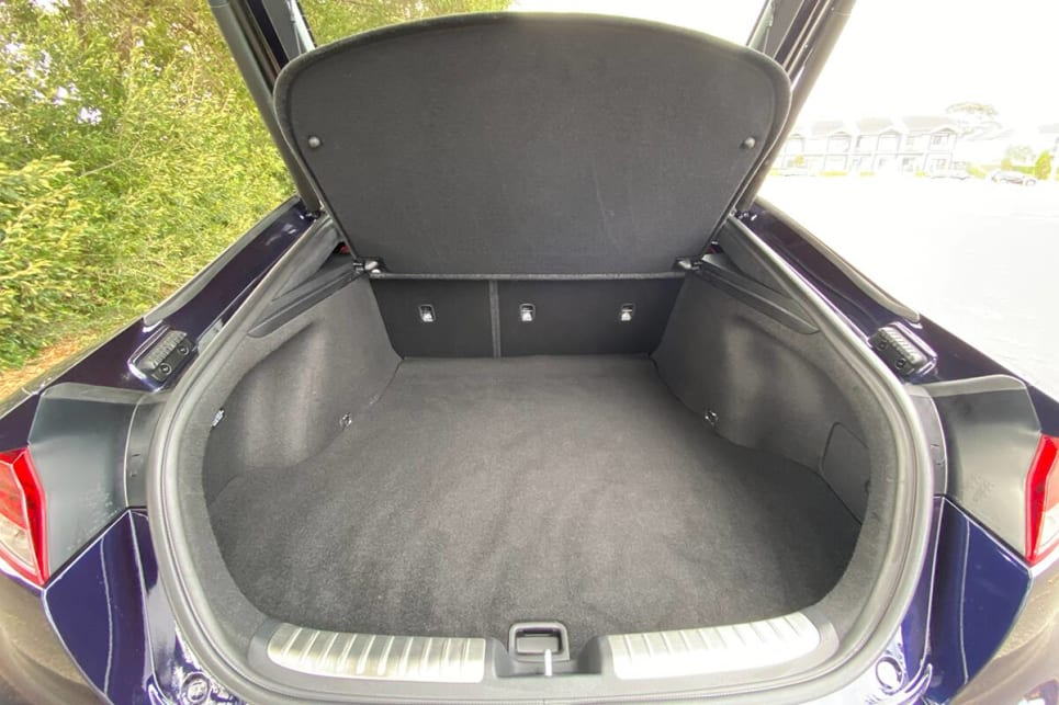 With the rear seats in place, boot space is rated at 406 litres.