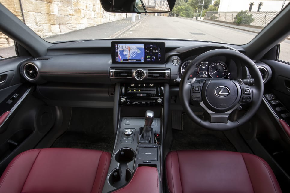 The interior design of the IS hasn't changed dramatically.