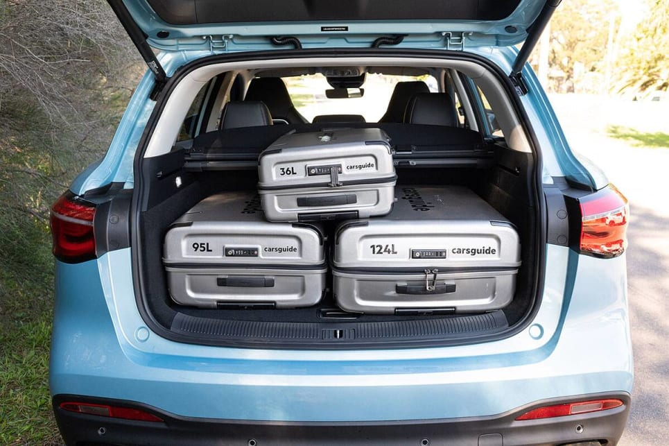 The MG managed to only just squeeze the suitcases in. (image credit: Rob Cameriere)