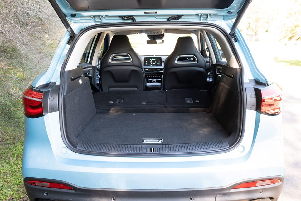 The rear seats have the ability to recline and fold flat. (image credit: Rob Cameriere)