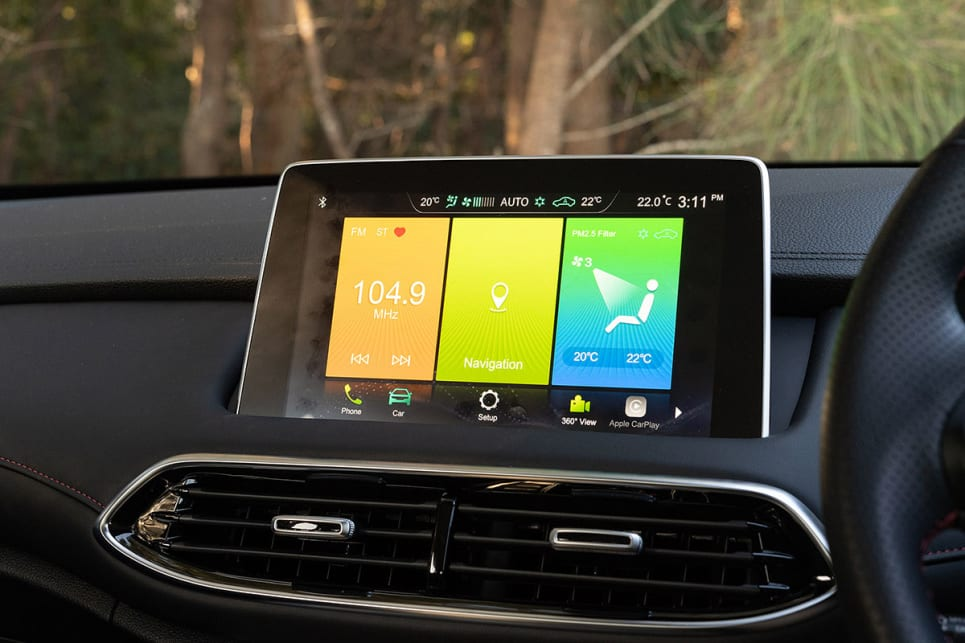 Inside is a 10.1-inch touchscreen media system. (image credit: Rob Cameriere)
