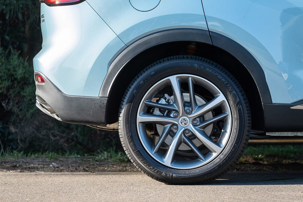 The MG wear 18-inch alloy wheels. (image credit: Rob Cameriere)