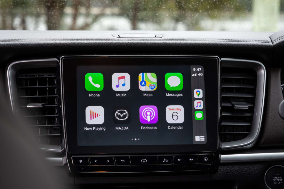 The BT-50 features a 9.0-inch infotainment touchscreen (image credit: Tom White).