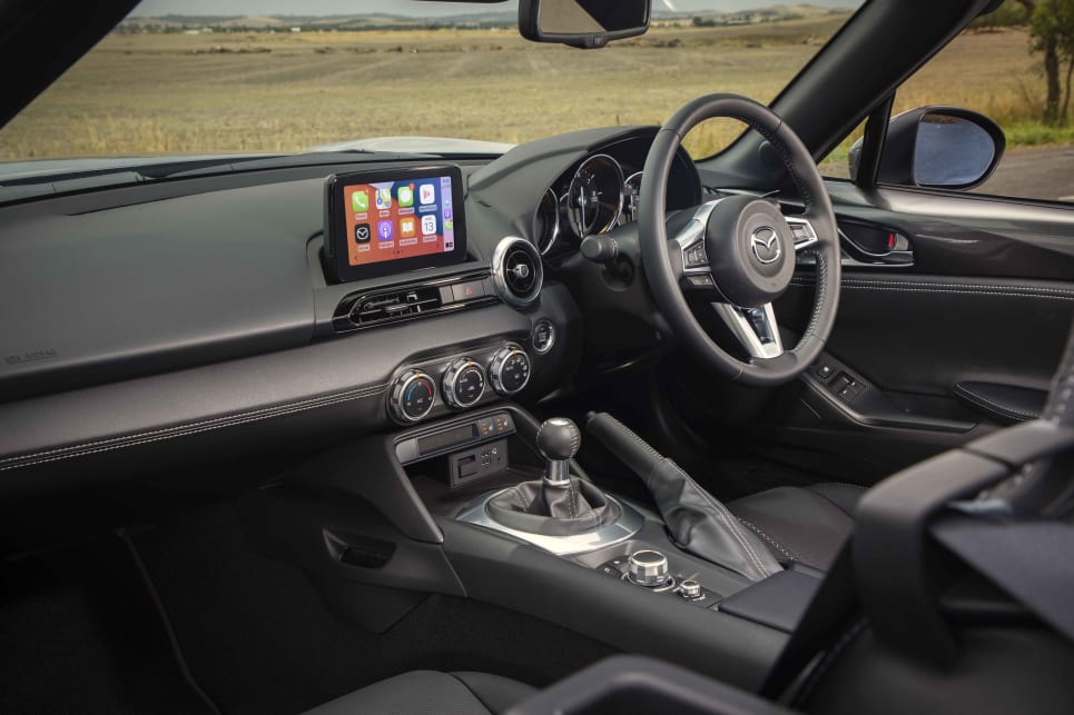 Part of the divine driving experience is the MX-5's electric power steering.