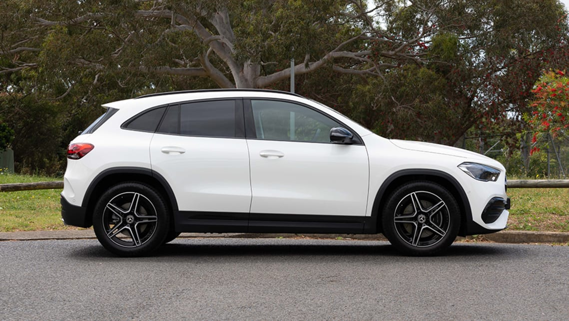 The previous model looked more like a hatchback with an elevated ride height, but this new iteration properly looks like a part of Mercedes-Benz's SUV family. (image: Dean McCartney)