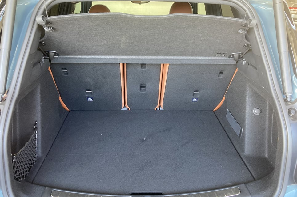 The 450-litre (VDA) bi-level boot layout makes for a deceptively big cargo area.