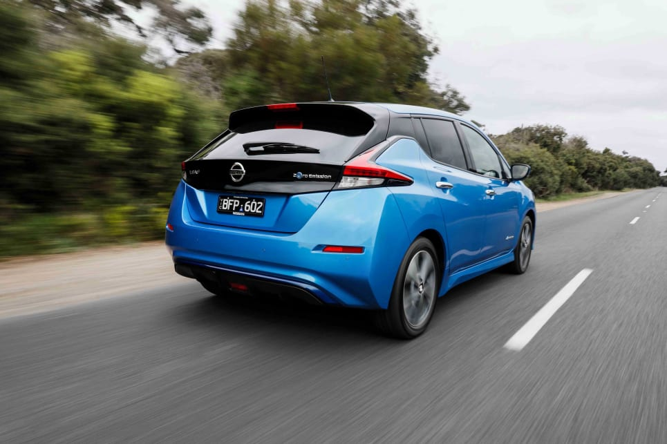 The Leaf e+ can be quite entertaining on a good twisty road, exhibiting strong body control.