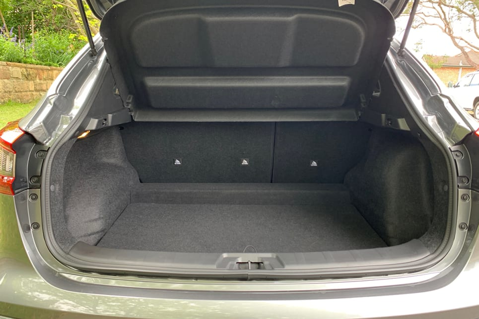 The boot capacity of the Qashqai is good, with 430 litres of cargo space. (image: Matt Campbell)