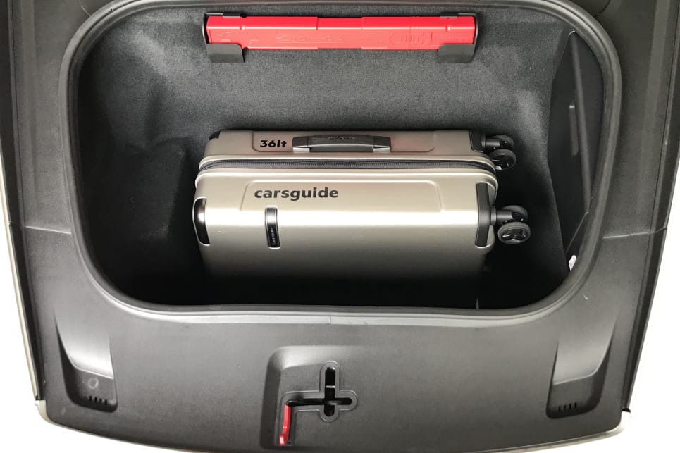 The 'frunk' (front trunk/boot) features 128-litres of storage space.
