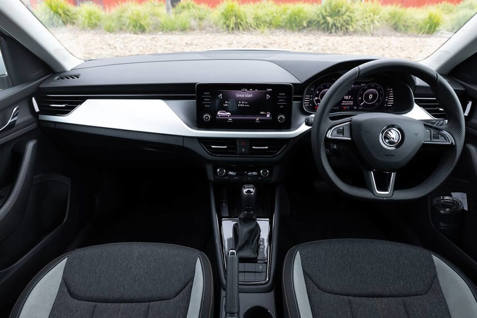 The entry grade 85 TSI features a digital instrument cluster, an 8-inch display with Apple CarPlay and Android Auto and wireless phone charger.