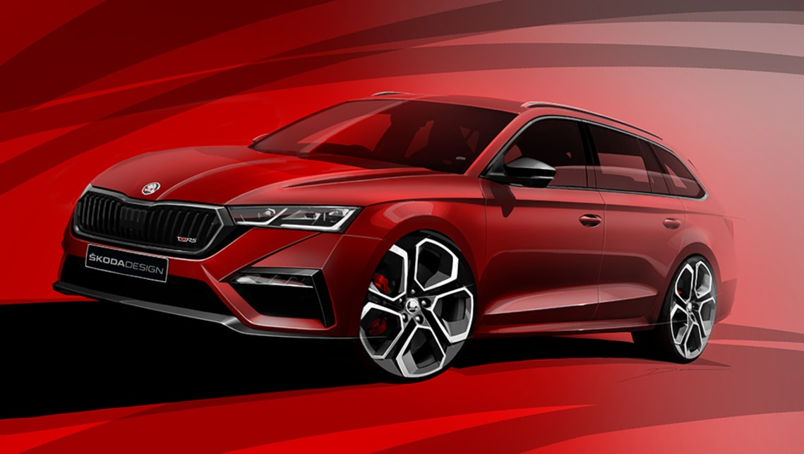 New Skoda Octavia Rs 2021 Sketched Sedan And Wagon To Keep 180kw Engine In Australia Car News Carsguide