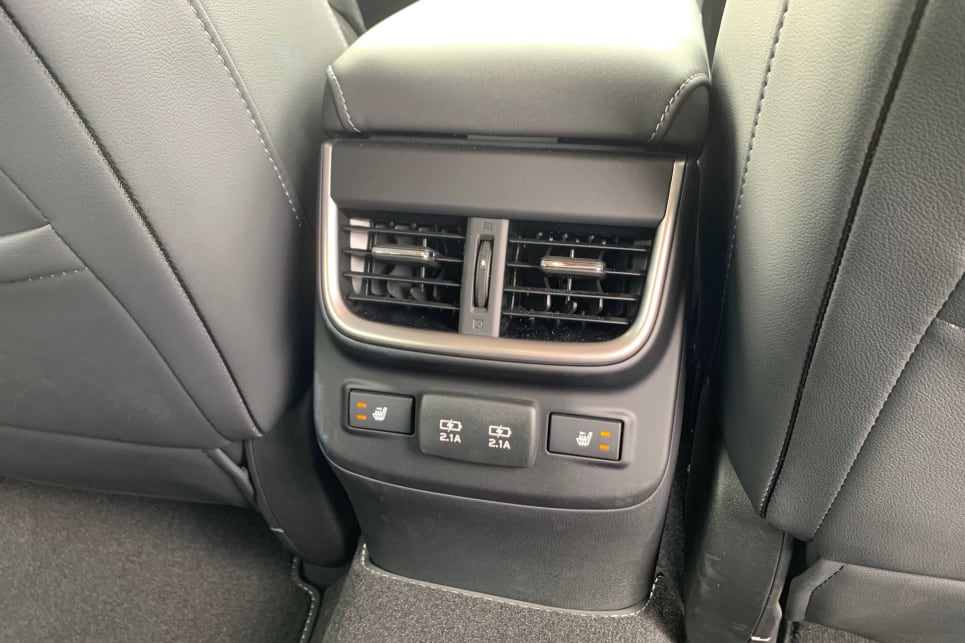 The back seat occupants should be kept happy as there are directional vents in all grades (image: AWD Touring).