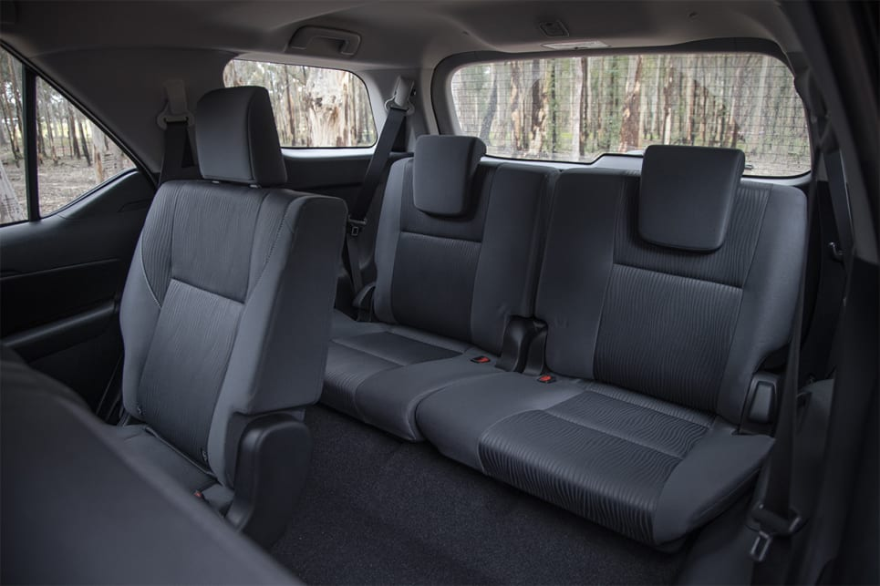 The Fortuner's seven seats are in a 2-3-2 configuration. (image credit: Glen Sullivan)