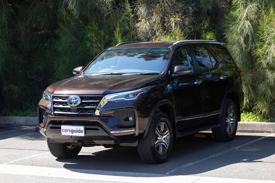 The Fortuner isn't beautiful, but it is rugged and ready looking (pictured: Fortuner GXL 2021).