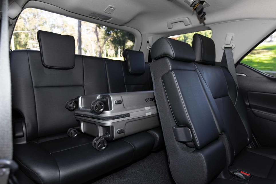 The cargo capacity with the third row up is just 200 litres (pictured: Fortuner GXL 2021).