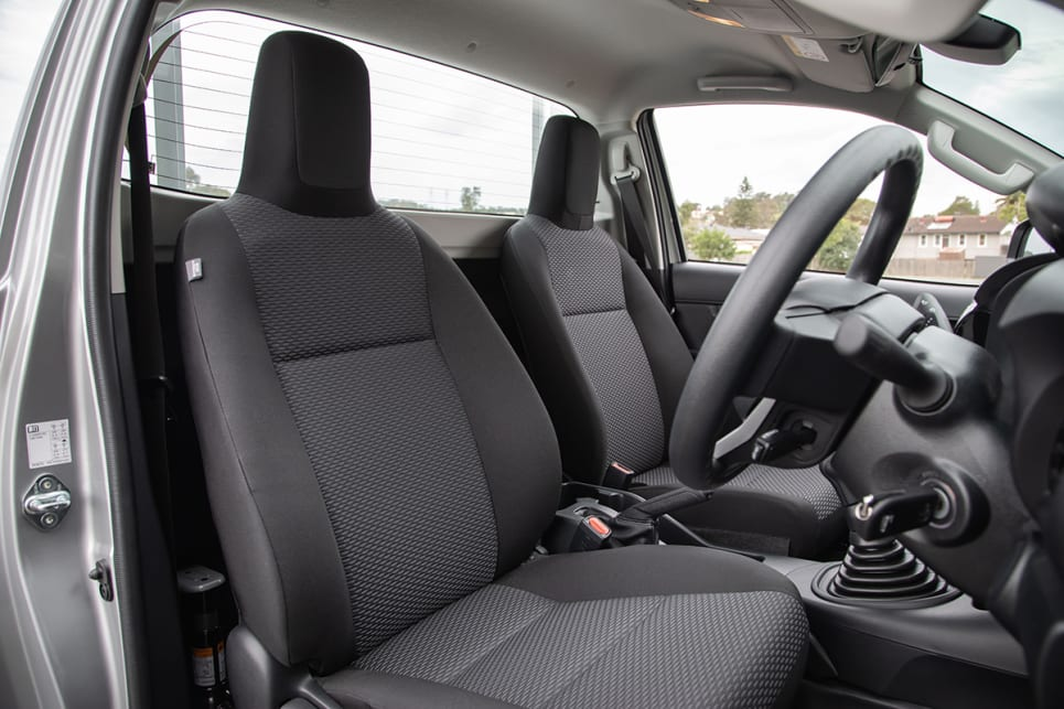 Single cab models have two seats (Image credit: Sam Rawlings).