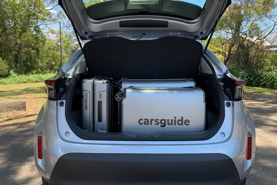 The boot is large enough to hold all three CarsGuide suitcases.