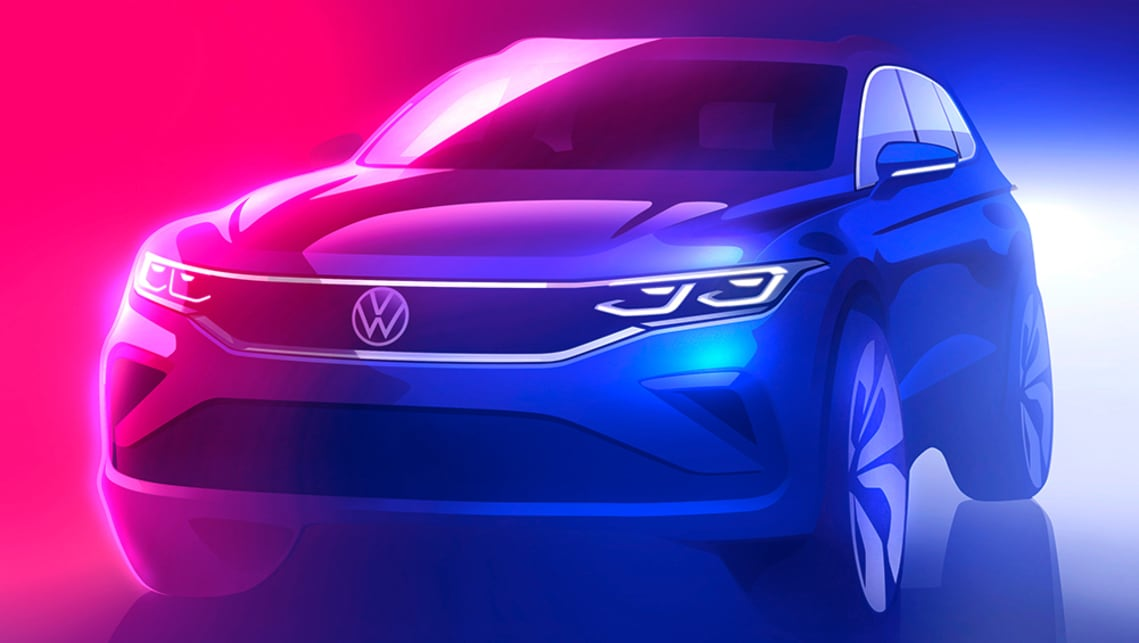 New VW Tiguan 2021 teased: Facelifted Mazda CX-5 rival due ...