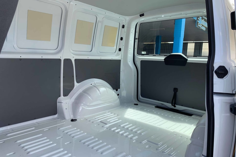 The LWB Crewvan offers 4.4m cubed of cargo space.