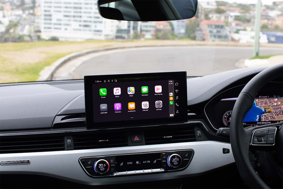 The 10.1-inch screen features Apple CarPlay and Android Auto. (image credit: Dean McCartney)