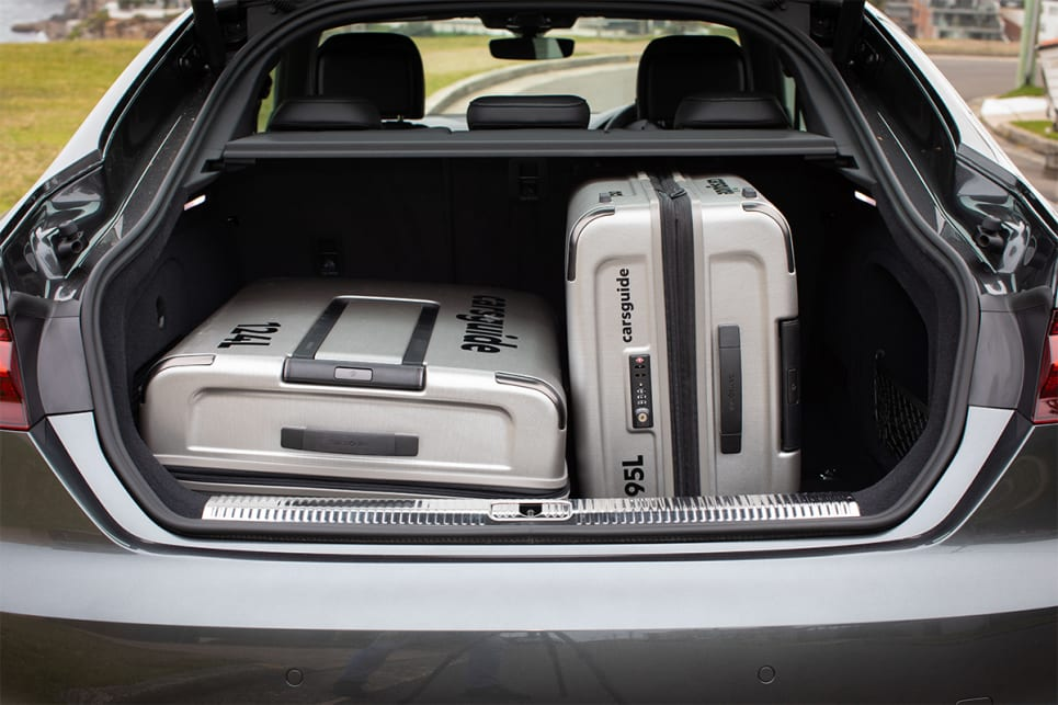 The boot is large enough to fit two of the CarsGuide suitcases. (image credit: Dean McCartney)