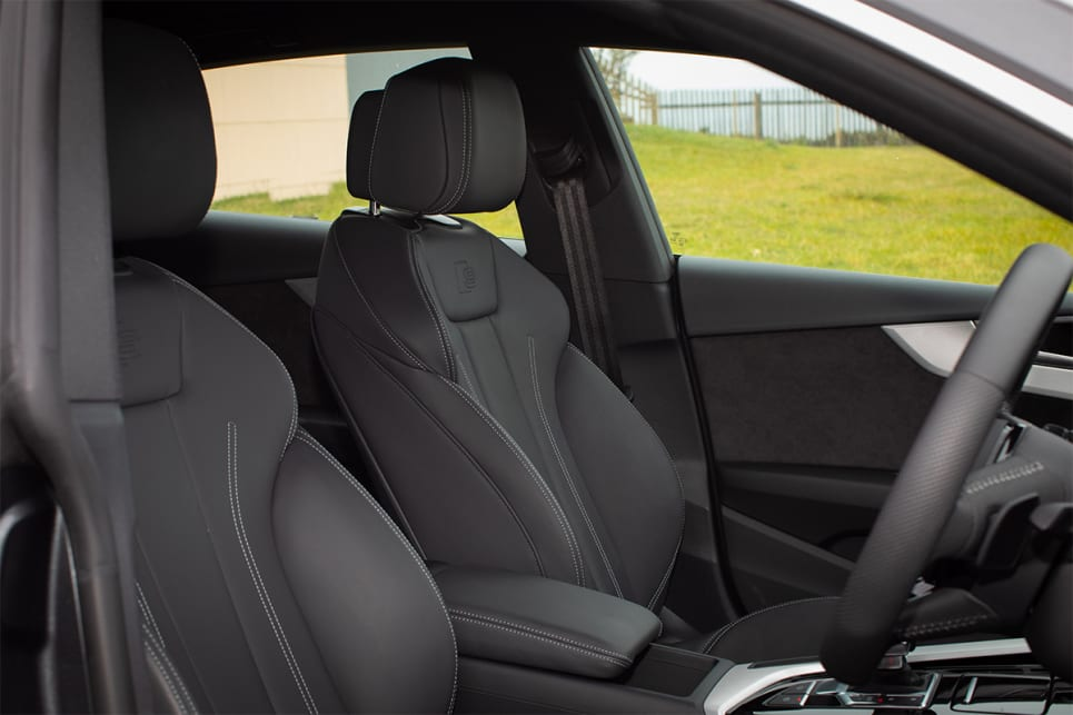 The front seats are heated and power adjustable. (image credit: Dean McCartney)