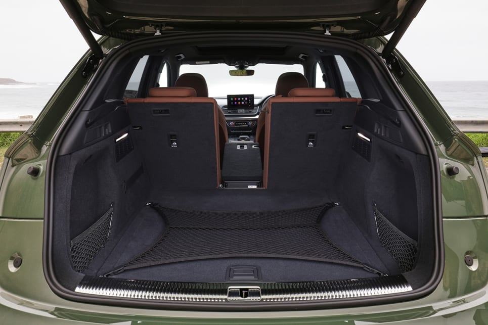 Boot space for the Q5 range comes in at 520 litres which is on-par for this luxury mid-size segment. (Q5 45 TFSI pictured)