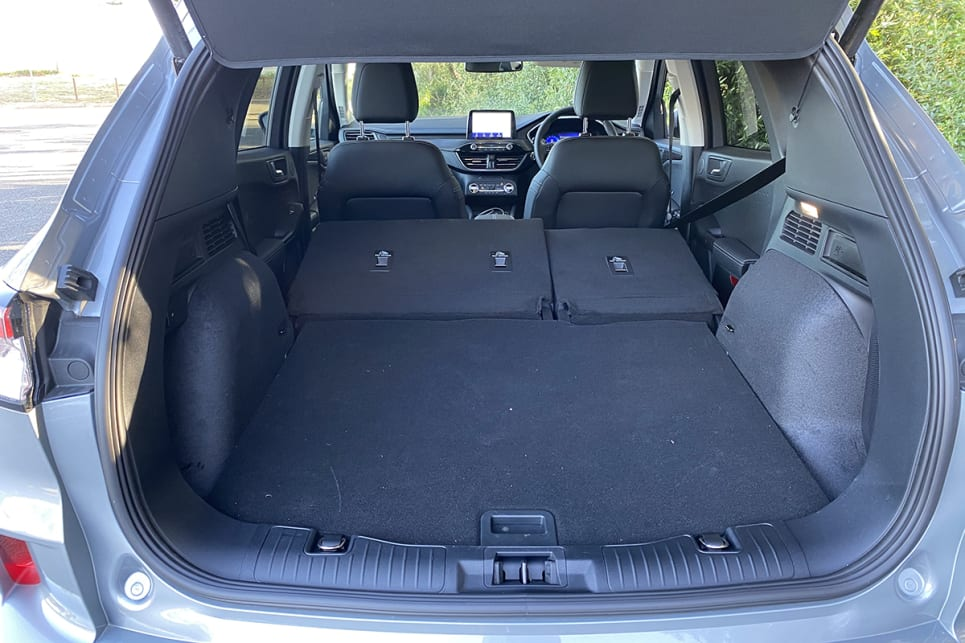 The seats can slide forward to increase boot space to 526 litres and they can also be folded flat.