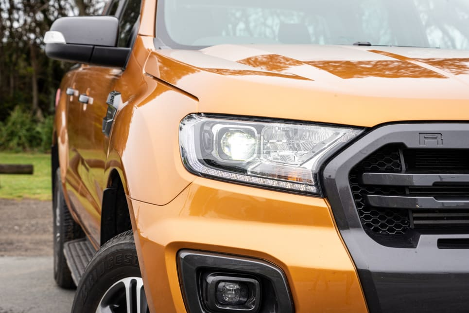 The Ford Ranger has Auto LED headlights (image credit: Tom White).
