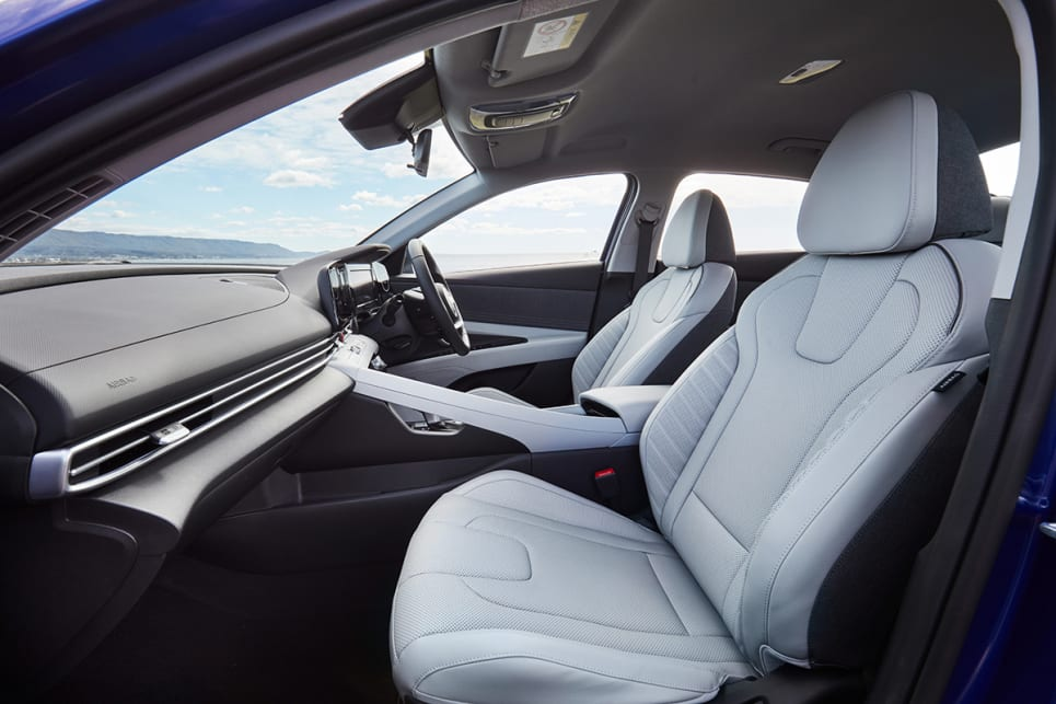 Upfront, the cabin feels plenty spacious. (Elite variant pictured)
