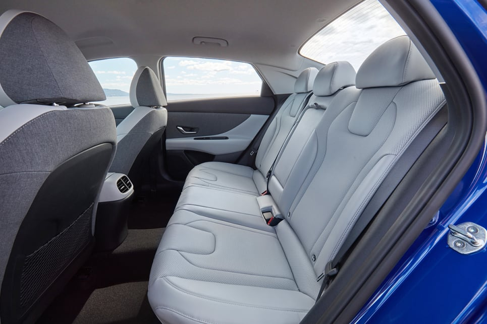 The rear seat will comfortably fit three adults. (Elite variant pictured)