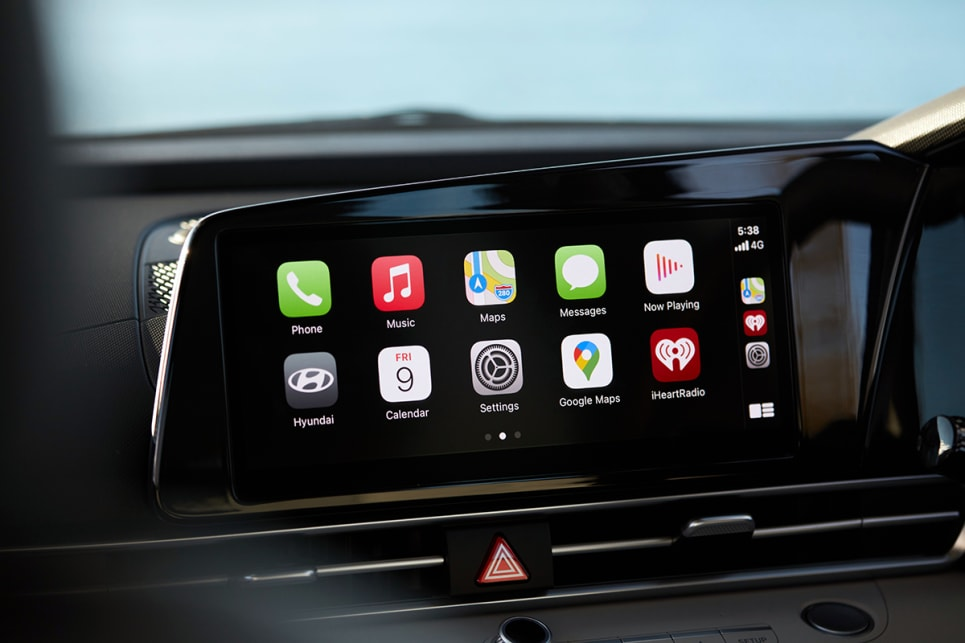 The second 10.25-inch screen features Apple CarPlay and Android Auto. (Elite variant pictured)