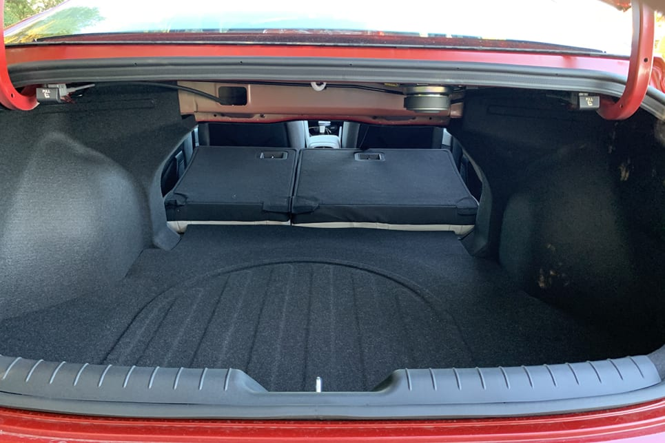 Fold the rear seats down, cargo capacity grows to 1350 litres.