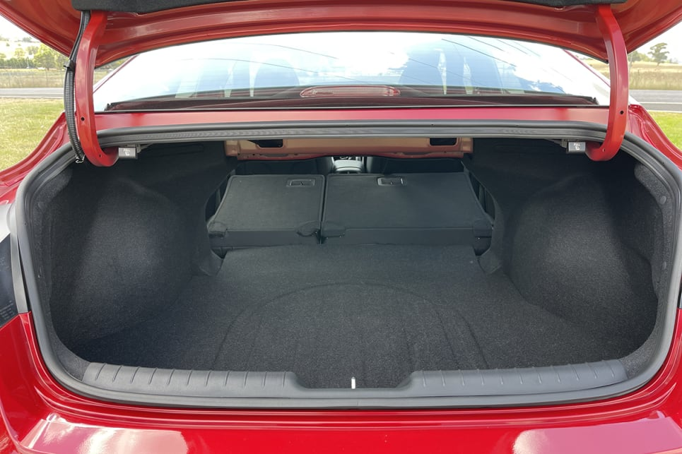 Fold the rear seats down and cargo capacity grows to 1350 litres.