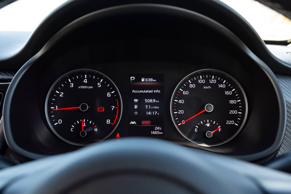 There is a 4.2-inch colour multifunction screen embedded in the instrument cluster.